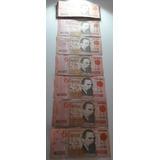 Billetes Nuevos Pesos Dos Mil 1989 Serie A Uruguay