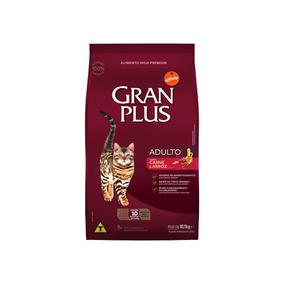 Ração Granplus Para Gatos Adultos Sabor Carne E Arroz 3kg