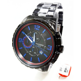 Relógio Mondaine Masculino Preto Aço 78729gpmvpa2 Cronógrafo