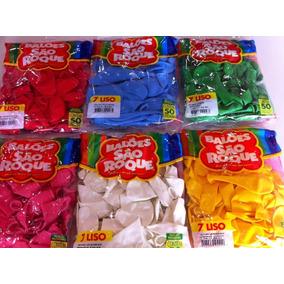 Balões São Roque Nº7 18 Pacotes C/50un (r$112,50)