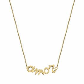 Collar Amor Baño De Oro Amarillo By Sarah Kosta Joyas