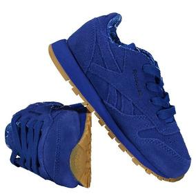 Tênis Reebok Classic Leather Tdc Infantil Azul Royal