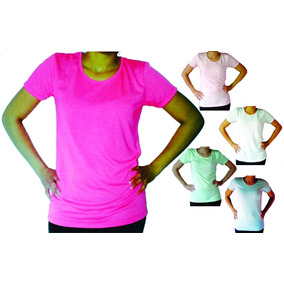 Remeras Sublimables Entalle Mujer Modal
