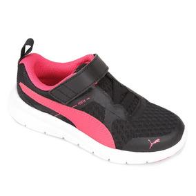Tênis Puma Flex Essential V Ps Preto Pink Feminino Infantil 372c689c58b9e