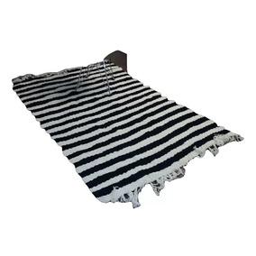 tela rayada blanca y negra - alfombras y carpetas en mercado libre
