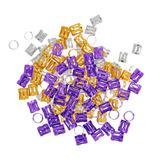 150 Piezas Colorido Pelo Dreadlock Perlas De Trenzado De Pel