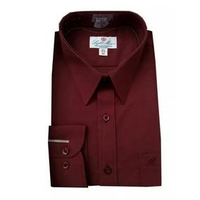 Camisa Color Vino Talla Extra 44, 48 Ó 50