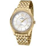 34b900cac72 Relógio Champion Feminino Dourado Com Pedras Cn29632h