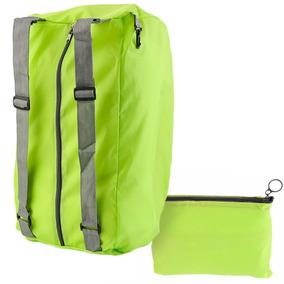 Mochila Bolsa De Viaje Impermeable Color Verde D3043