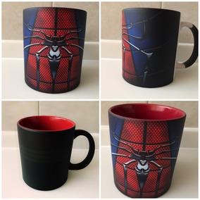 Taza Magica Spiderman El Hombre Araña Rojo Marvel Comic
