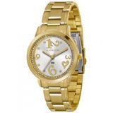 f554ced46a6 Relógio Feminino Dourado Lince Com Pedras Lrg4274l S2kx