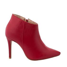 Bota Botin Zapatilla Color Rojo De Mujer Yaeli