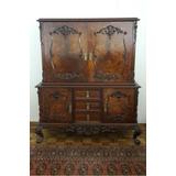 Mueble Cristalero Antiguo Impecable Estado