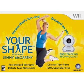 Jogo Your Shape C/ Câmera Com Sensor De Movimentos - Wii