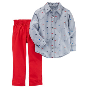 Conjunto De Niño Carters Pantalón Y Camisa