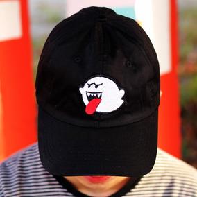 Boné Dad Hat Aba Curva Suprer Mario Bros Boo Pronta Entrega d1bb9b3154b