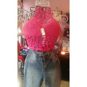 Corpiño-top Tejido A Crochet