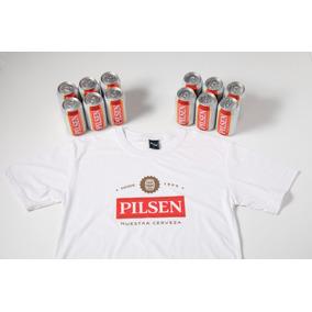Cerveza Pilsen Lata 354 Cc X 12 + Remera Logo