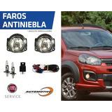 Focos Faroles Luces Camineros Antiniebla Fiat Uno Way L