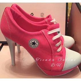 zapatos converse mujer con tacon