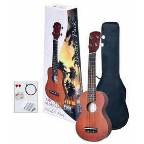 Ukelele Soprano Almeria Pack Con Funda + Afinador + Cuerdas