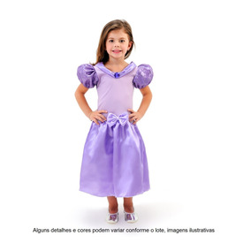 Lindo Vestido Fantasia Infantil Princesa Sofia Festa