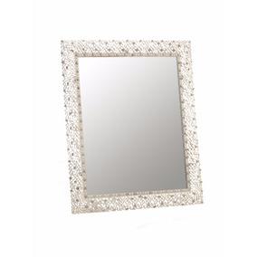 Espejo Marco Metalico Plateado Decoracion Hogar Espejos Redondos