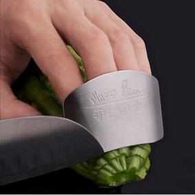 Protetor Dedos Para Fatiar Legumes Frutas Aço Inoxidável