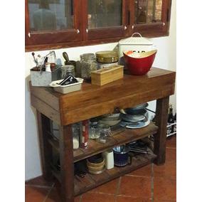 Alacenas Madera Rustico - Mesas de Cocina en Mercado Libre Argentina