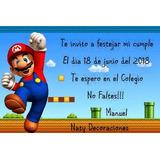 Tarjeta Invitacion Mario Bros Modelo 1