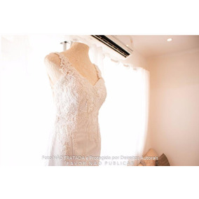 Vestido De Noiva Branco Com Pedraria