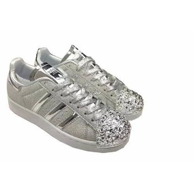 official photos 015ed d3cf9 Zapatillas adidas Superstar Mujer Punta Glitter Ed Limitada
