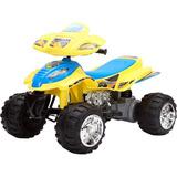Quadriciclo Infantil 12v Amarelo Brink Mini Moto Brink Mais