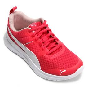 Tênis Puma Flex Essential Pink Branco Feminino Junior 63debaabb4ce1
