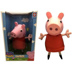 Boneca Porca Peppa Pig Grande Com Cabeça De Vinil - Estrela