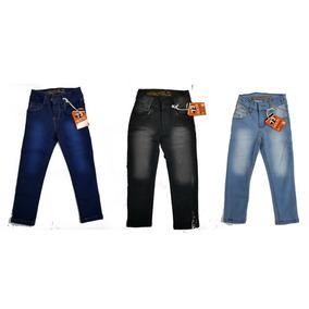d39149392a 3 Pantalones De Mezclilla Niño Talla 1 A 16 Negro