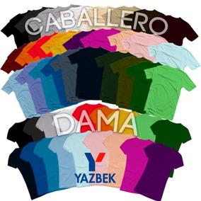Playeras Yazbek Originales Algodon 40 Colores!!!