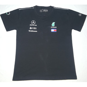 Nova Camiseta Funcional Mercedes Amg Petronas F1 2018 Preta e184adfe1af