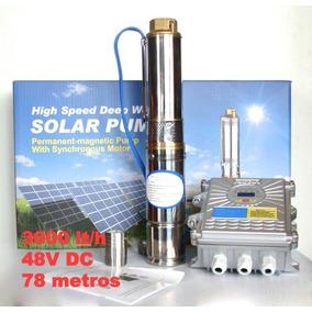 Bomba De Agua Solar 78 Metros 48v 3000lt/hora