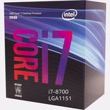 Intel I7 8700 6 Core Micro Procesador Gamer 1151 Tranza