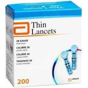 Lancetas Thin Lancets Marca Abbott Caja Con 200