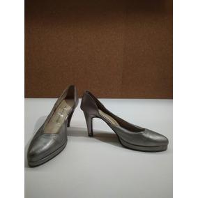 Zapatos De Fiesta - Adriana Zambrano - Gris Perla Talle 36,5