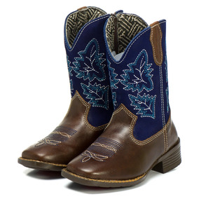 Bota Cowboy Infantil Texana Silverado Wafer Couro Floater