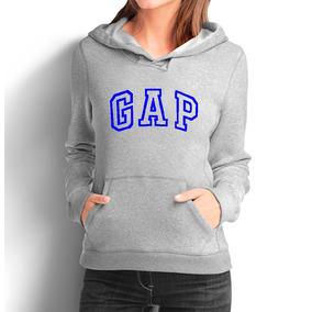 Moletom Gap Feminino Casaco Canguru Blusa De Frio Moleton e26a5f225a773