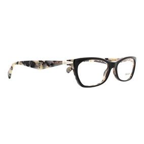 Prada Pr15pv Cuadros De Gafas Rok1o1-53 - Top Negro / Blanc