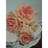 Rosas En Porcelana Fría, Para Decoración De Torta