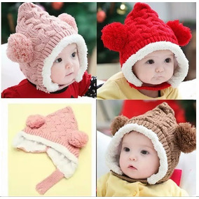 2273d6d130097 Touca Gorro Infantil Bebê De Menino E Menina Lã Inverno Frio
