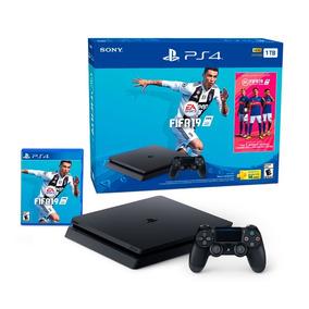 Ps4 Slim 1tb + 1 Control + Fifa 2019 Playstation Originales