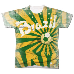 Camiseta Camisa Manga Curta Brasil Seleção Copa Do Mundo 01
