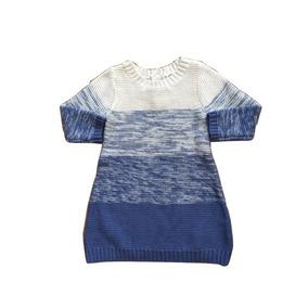 Vestido Azul Y Beige Tejido Old Navy Talla 6 Meses